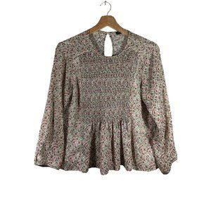 Zara Basic Lightweight Floral Blouse